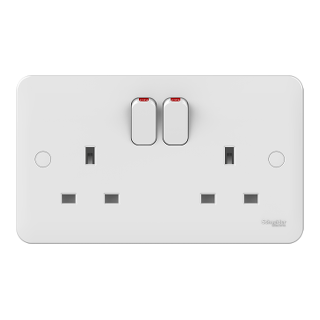 LWM 2 gang 13A switched socket outlet