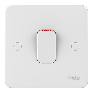 LWM 50A 1 gang DP plate switch with LED