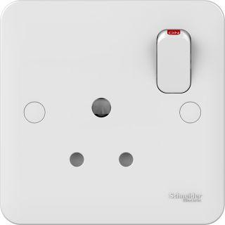 Lisse White moulded - socket-outlet - 5 A - 1 gang - matt white - set of 1