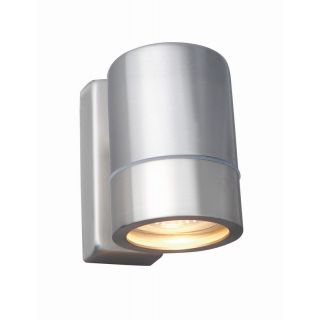"""TRALEE 35W GU10 up/down wall light, IP44, Brushed chrome, single"""