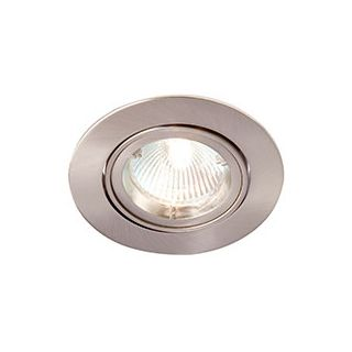 ZAK GU10 mains voltage DieCast AL downlight,max 50W,IP20,70mm,Brushed chrome,dim(R201SC-13)