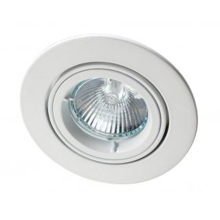 ZAK 50W GU10 mains voltage die cast aluminium downlight, IP20, 82mm, White, dimmable, directional