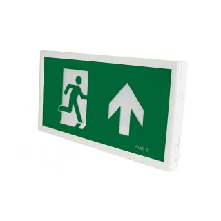 REX 3.5W Maintained Slim Exit Box c/w UP, DOWN, LEFT, RIGHT Legends [White]