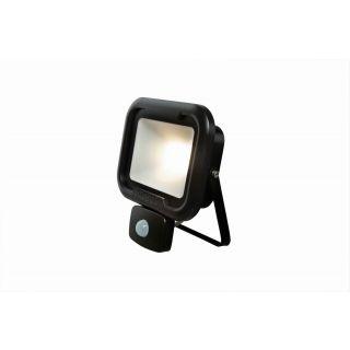 REMY 20W LED flood light with PIR, IP65, Black, 4000K, c/w junction box