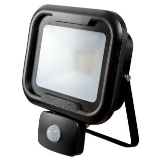 REMY 30W LED flood light with PIR, IP65, Black, 4000K, c/w junction box