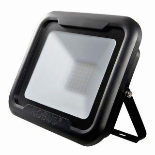 REMY 50W LED flood light, IP65, Black, 4000K, c/w junction box