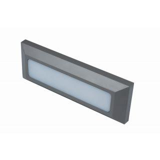 TWILIGHT 3W LED rectangular wall light, IP65, Grey, 3000K