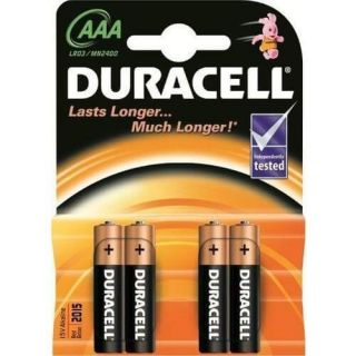 Duracell Battery AAA Card 4