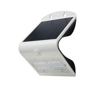 SOL 3.2W Solar LED Wall light with PIR IP65 Black 4000K