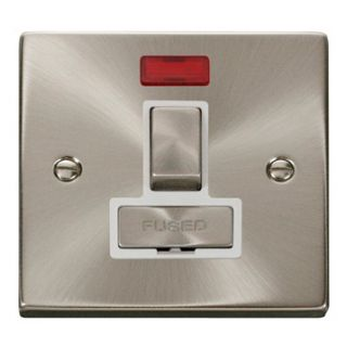 Click Deco Fused Spur Ingot Switch Neon Wh