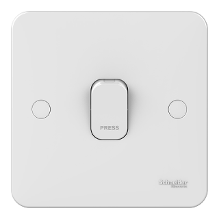 LWM 1 gang 1 way 10A retractive plate switch