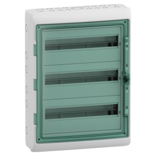 Kaedra - for modular device - 3 x 18 modules - 4 terminal blocks