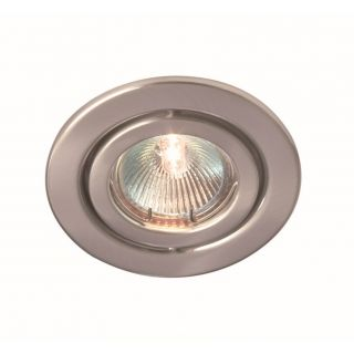 """RIDA 50W GU10 pressed steel downlight, IP20, 85mm, Brushed chrome, dimmable, directional"""