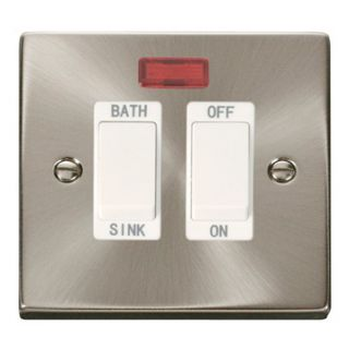 Click Deco 20a Dp Sink/bath Switch Whi Int