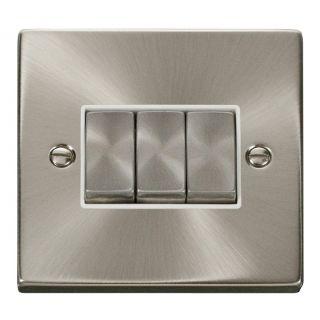 Click Deco 3g 2way Ingot Switch White Insert Satin Chome