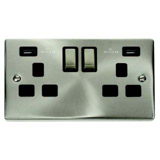Deco 2 Gang 13 Amp Usb 4.2 Amp Socket